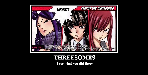 Tags: Anime, FAIRY TAIL, Erza Scarlet, Minerva Orland, Mikazuchi Kagura, Facebook Cover, Demotivational Poster