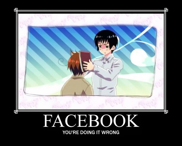 Tags: Anime, Studio DEEN, Axis Powers: Hetalia, North Italy, Japan, Facebook, Demotivational Poster, Screenshot