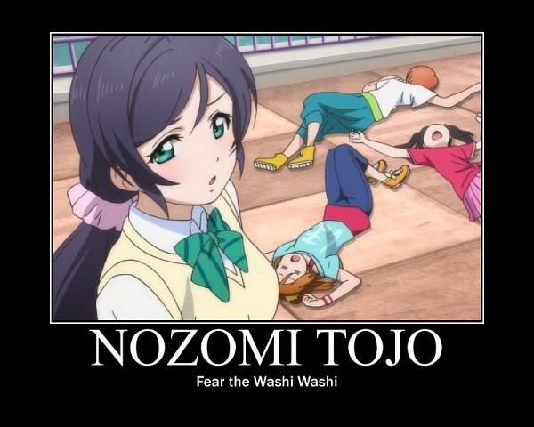 Tags: Anime, Love Live!, Hoshizora Rin, Toujou Nozomi, Yazawa Niko, Kousaka Honoka, Roof, School Rooftop, Unconscious, Screenshot, Demotivational Poster