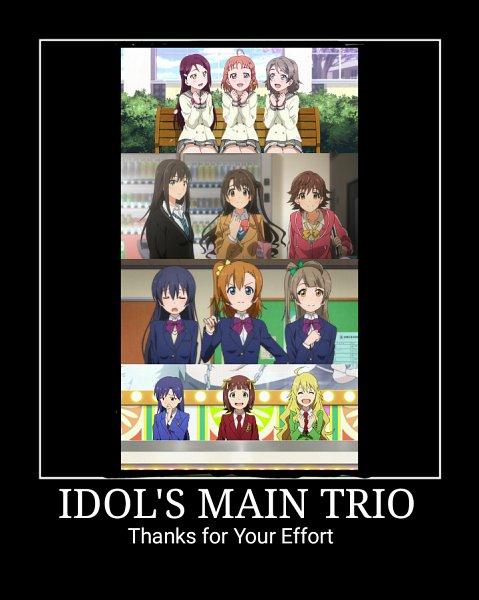 Tags: Anime, Love Live!, Love Live! Sunshine!!, THE iDOLM@STER, THE iDOLM@STER: Cinderella Girls, Hoshii Miki, Shimamura Uzuki, Kousaka Honoka, Sakurauchi Riko, Shibuya Rin, Takami Chika, Amami Haruka, Sonoda Umi