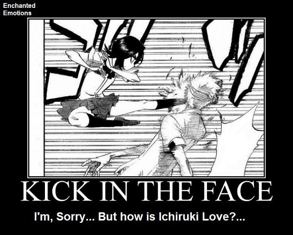 Tags: Anime, BLEACH, Kuchiki Rukia, Kurosaki Ichigo, Demotivational Poster, Gotei 13