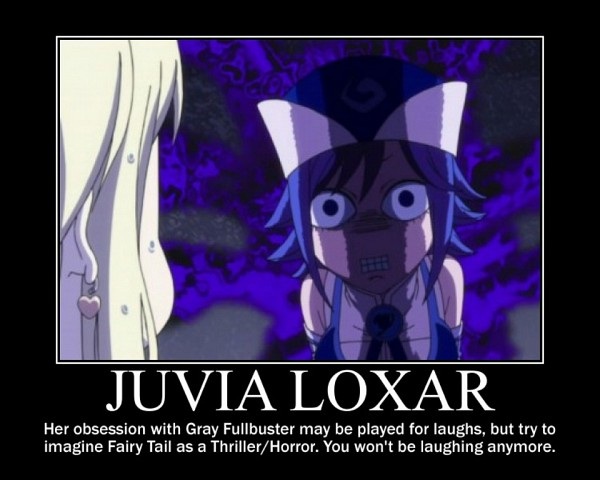 Tags: Anime, FAIRY TAIL, Juvia Loxar, Lucy Heartfilia, Screenshot, Demotivational Poster