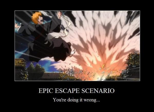 Tags: Anime, BLEACH, Kurosaki Ichigo, Explosion, Demotivational Poster