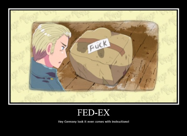 Tags: Anime, Kannan Masaaki, Studio DEEN, Axis Powers: Hetalia, Germany, North Italy, In a Box, Demotivational Poster, Mediterranean Countries, Axis Power Countries