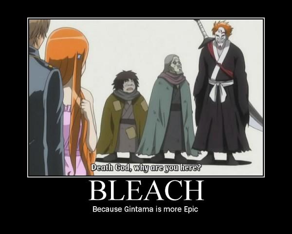 Tags: Anime, Gintama, Okita Sougo, BLEACH (Parody), Screenshot, Demotivational Poster