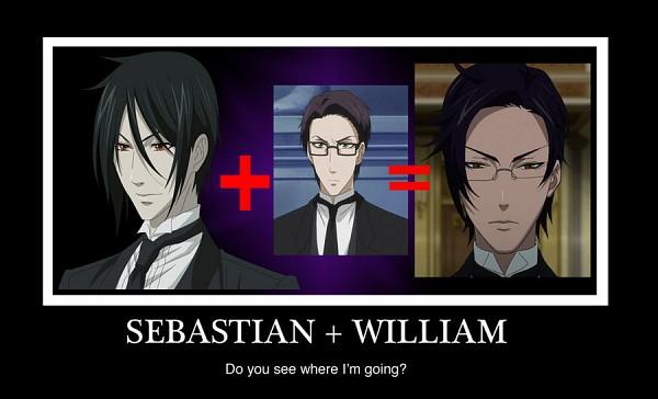 Tags: Anime, Kuroshitsuji, William T. Spears, Claude Faustus, Sebastian Michaelis, Demotivational Poster