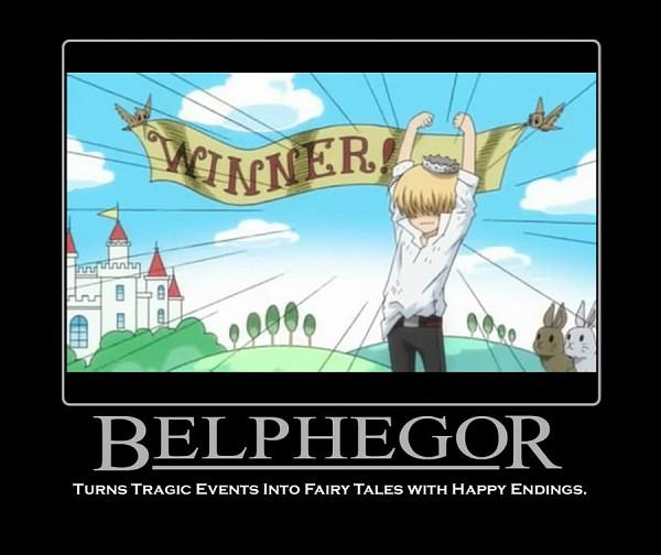 Tags: Anime, Tanaka Masayoshi, Katekyo Hitman REBORN!, Belphegor, Demotivational Poster, Screenshot
