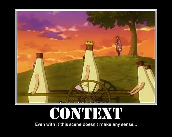 Tags: Anime, Gintama, Shimura Shinpachi, Matsudaira Kuriko, Hijikata Toushirou, Sakata Gintoki, Kagura (Gin Tama), Mayonnaise Costume, Mayonnaise, Demotivational Poster, Screenshot