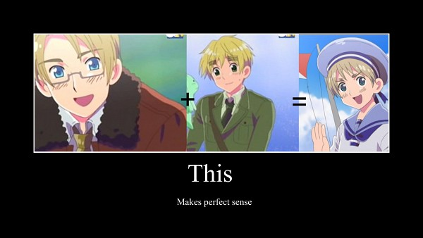 Tags: Anime, Axis Powers: Hetalia, Sealand, United Kingdom, United States, Demotivational Poster, Facebook Cover, Allied Forces