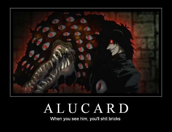 Tags: Anime, HELLSING, Alucard (Hellsing), Demotivational Poster