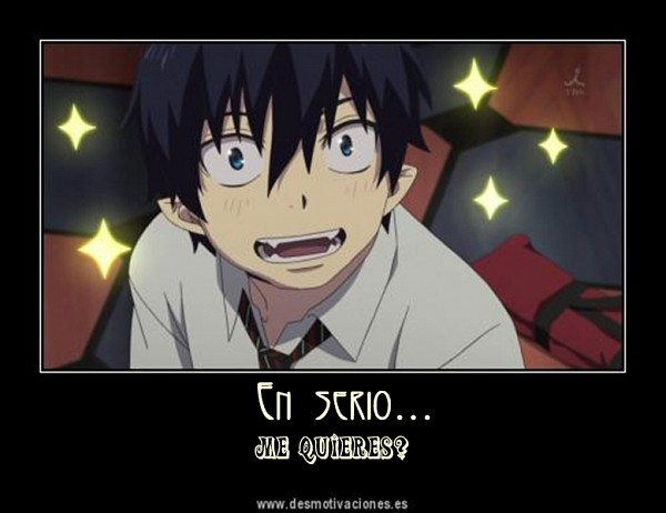 Tags: Anime, Ao no Exorcist, Okumura Rin, Spanish Text, Demotivational Poster, Self Made