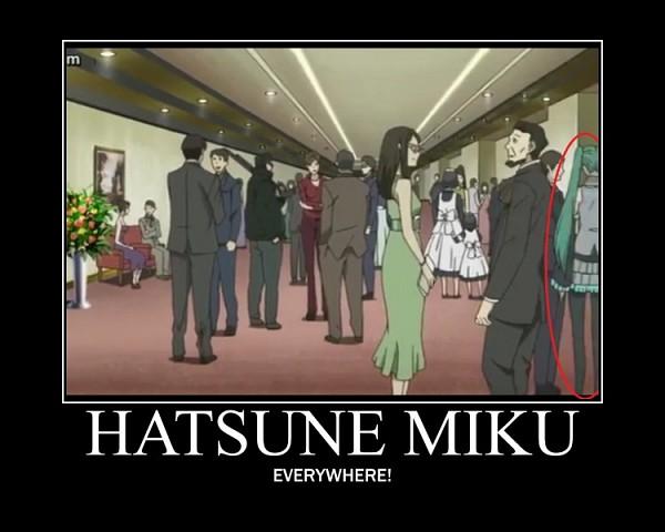 Tags: Anime, BONES (Studio), UN-GO, VOCALOID, Hatsune Miku, Demotivational Poster, Screenshot