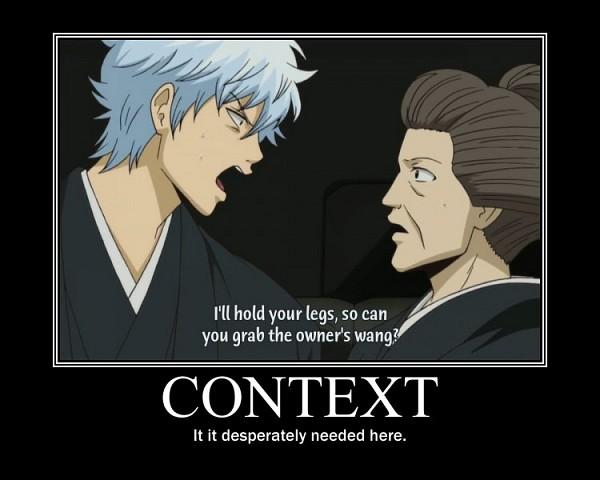 Tags: Anime, Gintama, Sakata Gintoki, Subtitled, Demotivational Poster, Screenshot