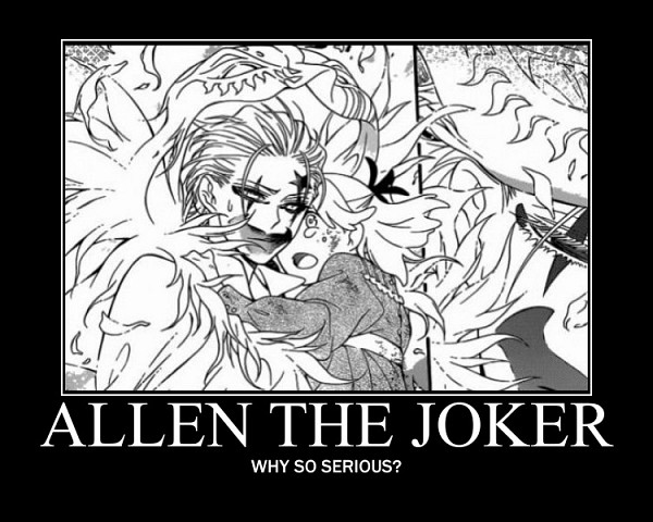 Tags: Anime, Hoshino Katsura, D.Gray-man, Allen Walker, Demotivational Poster