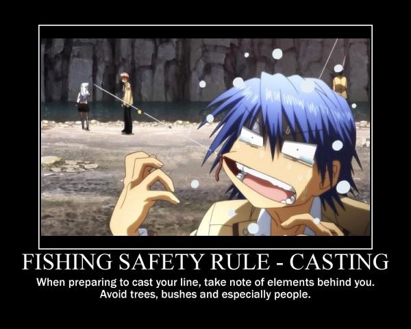 Tags: Anime, Angel Beats!, Otonashi Yuzuru, Tachibana Kanade, Hinata Hideki, Fishing Rod, Fishing, Demotivational Poster