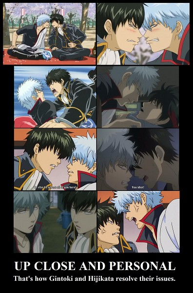 Tags: Anime, Gintama, Hijikata Toushirou, Sakata Gintoki, Tosshi, Demotivational Poster, Mobile Wallpaper, Shinsengumi Rebellion Arc, Screenshot, GinHiji