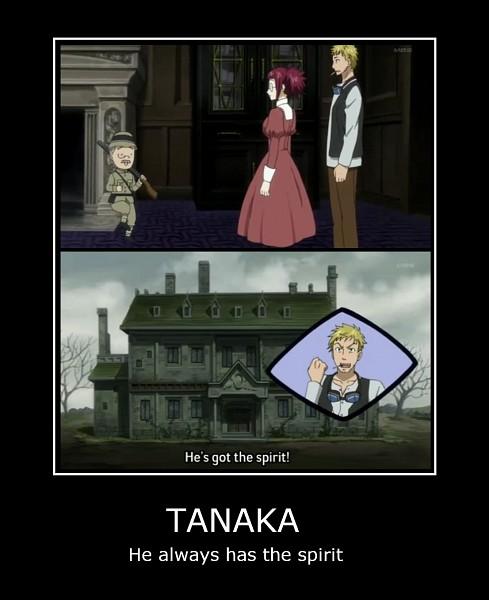 Tags: Anime, Kuroshitsuji, Mey-Rin, Tanaka, Bardroy, Screenshot, Demotivational Poster