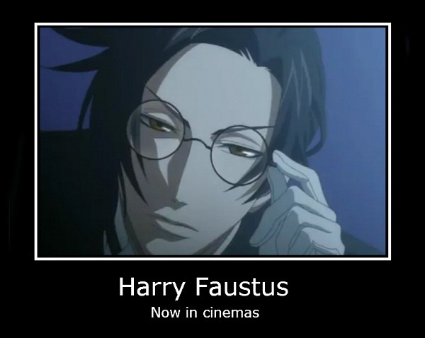 Tags: Anime, Kuroshitsuji, Harry Potter, Claude Faustus, Screenshot, Demotivational Poster