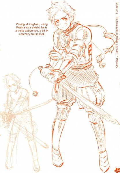 Tags: Anime, Himaruya Hidekaz, Axis Powers: Hetalia, Denmark, Medieval, Mobile Wallpaper, Nordic Countries