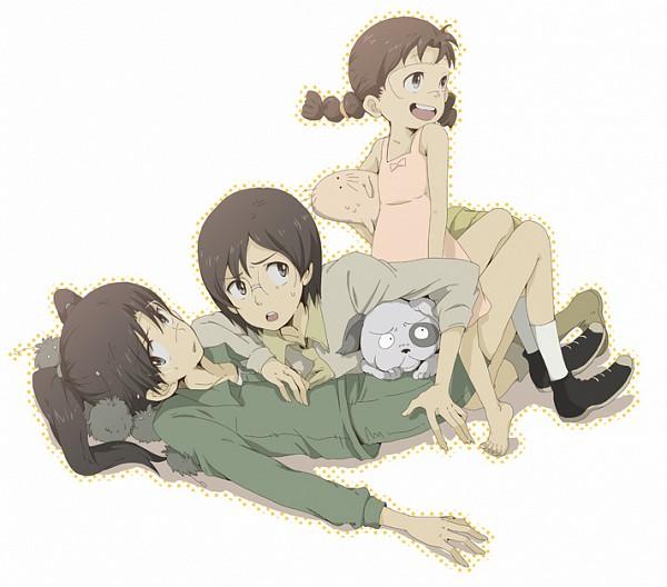 Tags: Anime, Moha, Dennou Coil, Mojo, Okonogi Yuuko, Okonogi Kyoko, Amasawa Yuuko, Densuke, Pixiv, Fanart