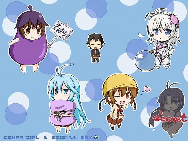 Tags: Anime, Pixiv Id 200376, Denpa Onna to Seishun Otoko, Touwa Meme, Niwa Makoto, Hoshimiya Yashiro, Maekawa (Denpa Onna), Touwa Erio, Mifune Ryuuko, Futon, Ground Control To Psychoelectric Girl