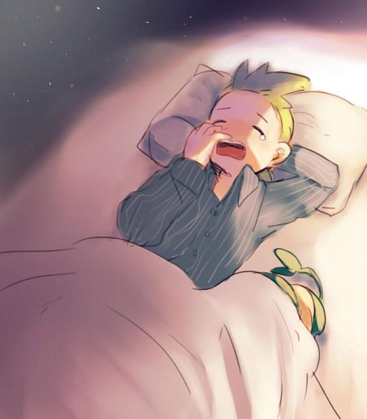 Tags: Anime, Hareto, Pokémon, Pansage, Dento (Pokémon), Yawn, Pixiv, Fanart From Pixiv, Fanart, Cilan