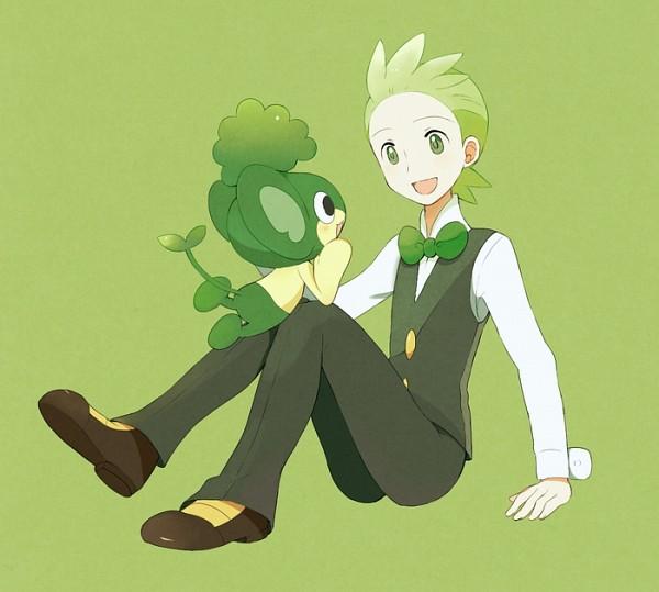 Tags: Anime, May (Pixiv Id 233774), Pokémon, Dento (Pokémon), Pansage, Monkey, Cilan