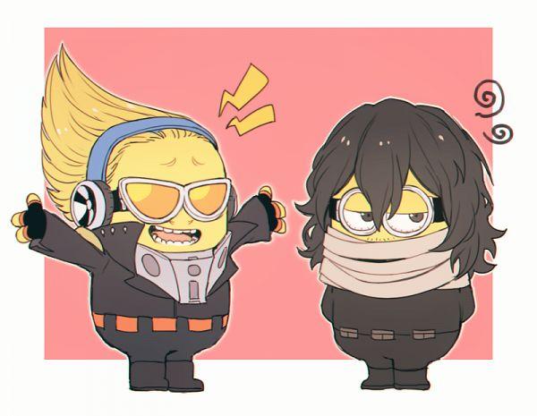 Tags: Anime, Pixiv Id 8126510, Despicable Me, Minion (Despicable Me), Present Mic (Cosplay), Boku no Hero Academia (Parody), Aizawa Shouta (Cosplay), Fanart, Fanart From Pixiv, Pixiv