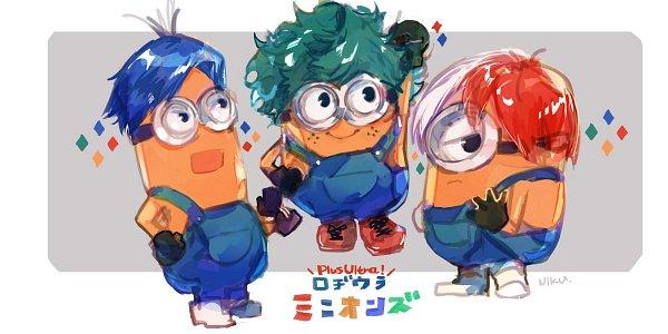 Tags: Anime, Pixiv Id 4162667, Despicable Me, Minion (Despicable Me), Midoriya Izuku (Cosplay), Boku no Hero Academia (Parody), Iida Tenya (Cosplay), Todoroki Shouto (Cosplay)