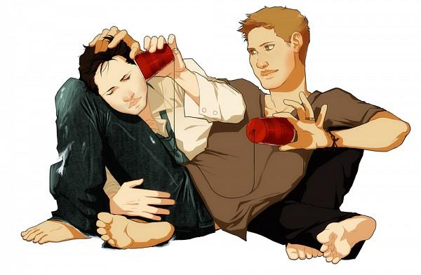 Tags: Anime, Cafe De Labeill, Supernatural, Dean Winchester, Castiel, On The Ground, Destiel