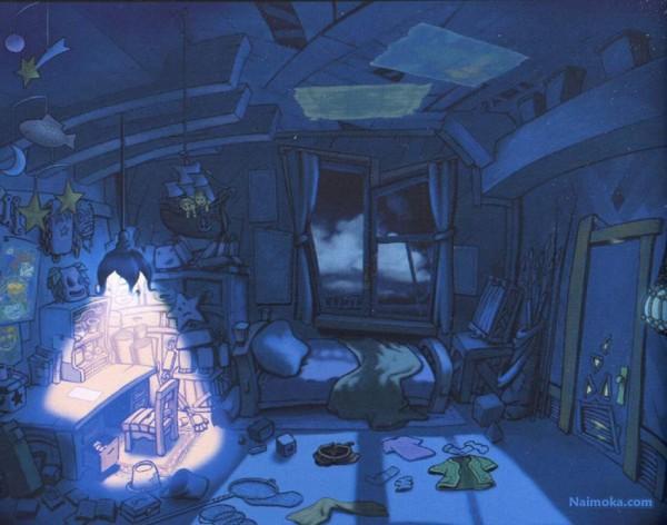 Tags: Anime, Nomura Tetsuya, SQUARE ENIX, Kingdom Hearts, Roomscape, Bedroom, Destiny Islands