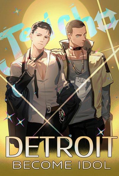 Tags: Anime, Pixiv Id 2789467, Detroit: Become Human, Markus (Detroit: Become Human), Connor (Detroit: Become Human), Fanart From Pixiv, Pixiv, Fanart