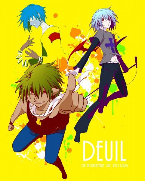 Tags: Anime, KONAMI, Pop'n Music, Smile (pop'n), Ash (Pop'n Music), Yuli (Pop'n Music), Deuil
