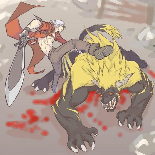 Tags: Anime, Monster Hunter Series, Devil May Cry, Rajang, Dante