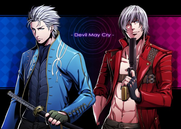 Tags: Anime, Red Lian, Devil May Cry, Vergil (Devil May Cry), Dante (Devil May Cry), Fanart, Pixiv