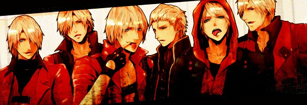 Tags: Anime, Pixiv Id 422566, Devil May Cry, Nero (Devil May Cry), Vergil (Devil May Cry), Dante (Devil May Cry), Slicked Back Hair, Fanart From Pixiv, Fanart, Twitter Header, Pixiv