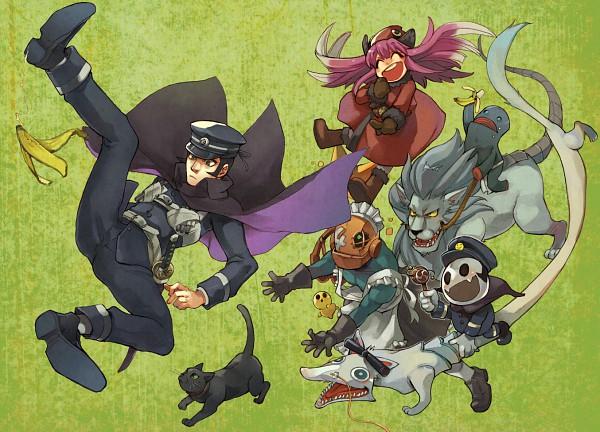 Tags: Anime, Devil Summoner: Raidou Kuzunoha Vs. The Soulless Army, Kuzunoha Raidou the XIV, Mokoi, Moh Shuvuu, Jack Frost (Shin Megami Tensei), Gouto-Douji, Holster, Pixiv