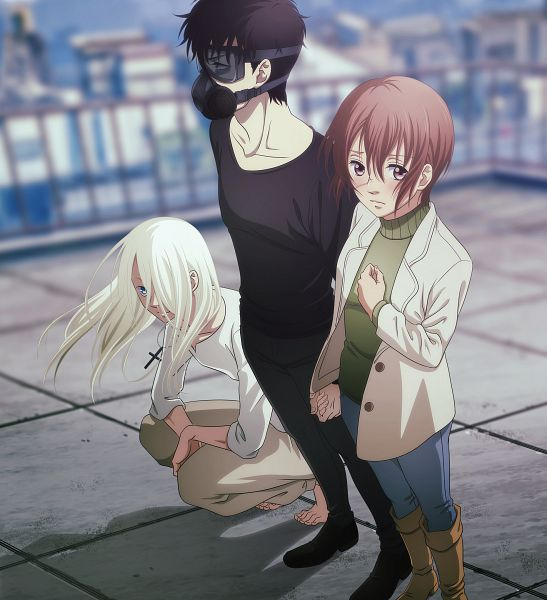 Tags: Anime, Kawaguchi Chisato, Platinum Vision, Devils Line, Hans Lee, Taira Tsukasa, Anzai Yuuki, Cover Image, Official Art