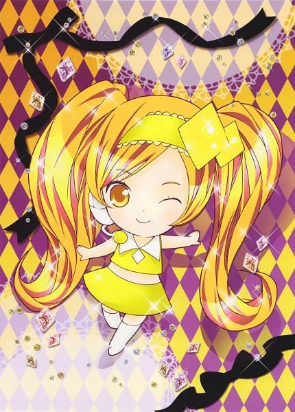 Tags: Anime, PEACH-PIT, Shugo Chara!, Shugo Chara! Illustrations 2, Dia, Official Art, Scan