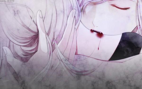Tags: Anime, Satoi, IDEA FACTORY, Rejet, Diabolik Lovers ~Haunted dark bridal~, Sakamaki Subaru, Komori Yui, 1440x900 Wallpaper, Biting Neck, Wallpaper, Official Art