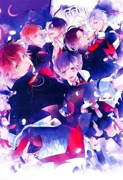 Tags: Anime, Satoi, Rejet, IDEA FACTORY, Diabolik Lovers Official Visual Fanbook, Diabolik Lovers ~Haunted dark bridal~, Sakamaki Subaru, Sakamaki Kanato, Sakamaki Shuu, Sakamaki Ayato, Sakamaki Reiji, Sakamaki Laito, Official Art