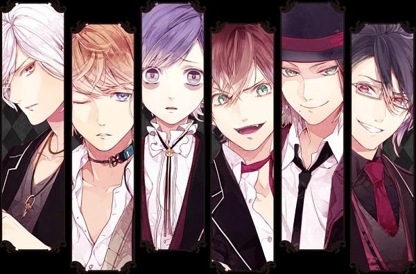 Tags: Anime, IDEA FACTORY, Rejet, Diabolik Lovers ~Haunted dark bridal~, Sakamaki Subaru, Sakamaki Kanato, Sakamaki Shuu, Sakamaki Ayato, Sakamaki Reiji, Sakamaki Laito, Official Art