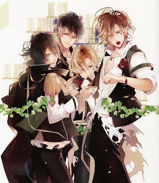 Tags: Anime, Satoi, Rejet, Diabolik Lovers ~Haunted dark bridal~, Mukami Yuuma, Mukami Ruki, Mukami Azusa, Mukami Kou, Official Art, Scan