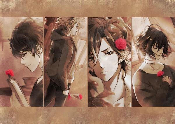 Tags: Anime, Pixiv Id 12387536, Diabolik Lovers ~Haunted dark bridal~, Mukami Azusa, Mukami Kou, Mukami Yuuma, Mukami Ruki, Carnation, Pixiv, Fanart, Fanart From Pixiv