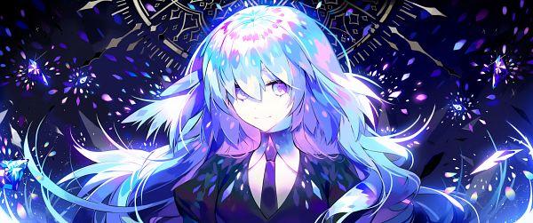 Tags: Anime, Pixiv Id 9007538, Houseki no Kuni, Diamond (Houseki no Kuni), Facebook Cover, Fanart, Fanart From Pixiv, Pixiv