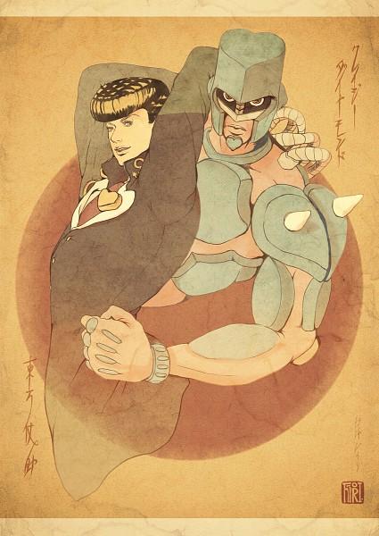 Tags: Anime, Pixiv Id 1598922, Diamond Is Unbreakable, JoJo no Kimyou na Bouken, Crazy Diamond, Higashikata Jousuke, Fanart, Stand