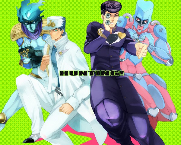 Tags: Anime, clam-yunyu, Diamond Is Unbreakable, JoJo no Kimyou na Bouken, Crazy Diamond, Kuujou Joutarou, Star Platinum, Higashikata Jousuke, Uncle, Binoculars, Uncle And Nephew, Fanart, Stand