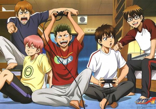 Tags: Anime, Diamond no Ace, Sawamura Eijun, Miyuki Kazuya, Kominato Ryousuke, Kuramochi Youichi, Isashiki Jun, Official Art, Ace Of Diamond
