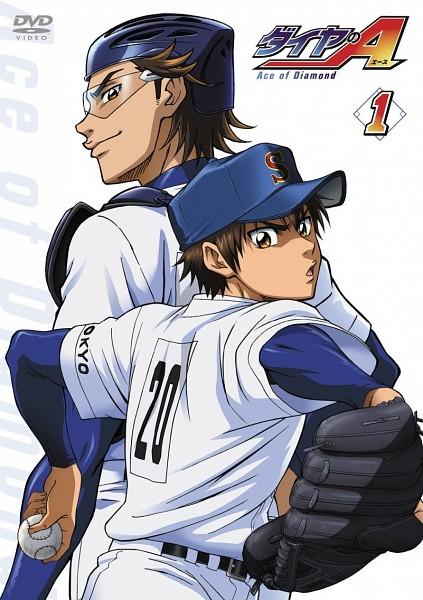 Tags: Anime, Diamond no Ace, Sawamura Eijun, Miyuki Kazuya, Official Art, Mobile Wallpaper, Ace Of Diamond