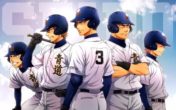Tags: Anime, Diamond no Ace, Isashiki Jun, Kominato Ryousuke, Yuuki Tetsuya, Masuko Tooru, Kuramochi Youichi, Baseball Uniform, Ace Of Diamond
